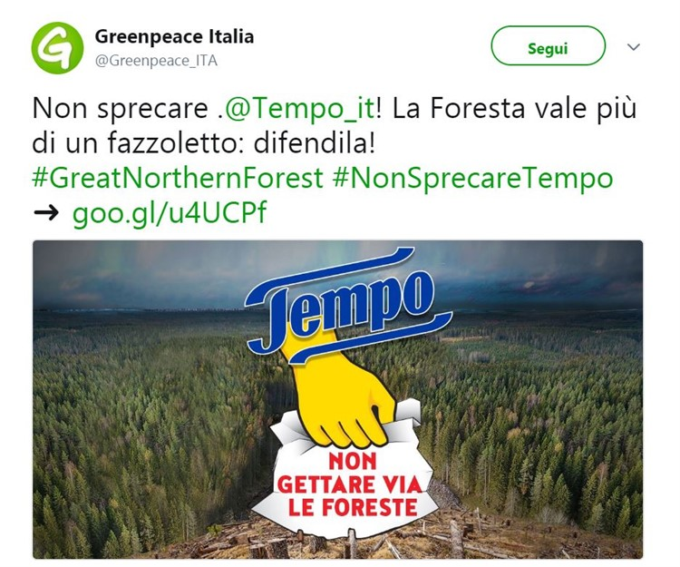 Allarme Greenpace